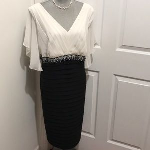 Adrianna Papell Black & White Evening Dress
